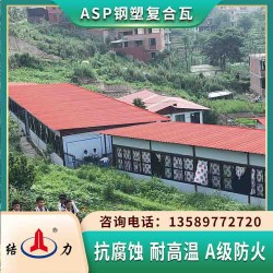 Psp耐腐瓦 ASP钢塑彩瓦 陕西榆林耐腐彩钢板防震抗变形